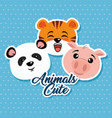 cute animals cartoon vector image