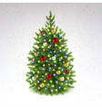 decorated christmas tree with colorful garland vector image vector image