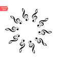 decoration of musical notes in the shape of a vector image vector image
