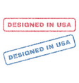 designed in usa textile stamps vector image vector image