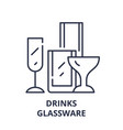 drinks glassware line icon concept drinks vector image vector image