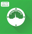 electric meter icon business concept power meter vector image