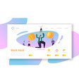finance business success character landing page vector image vector image