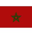 Flaf of Morocco vector image
