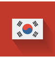 Flat flag of South Korea vector image vector image