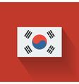 flat flag south korea vector image vector image