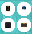 flat icon appliance set of microprocessor vector image vector image