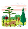 flat of nature vector image vector image
