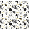graffiti seamless pattern vector image