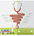Health And Medical Timeline Infographic vector image vector image