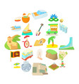 holiday in brazil icons set cartoon style vector image vector image