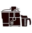 juicer machine solid icon squeezer vector image vector image