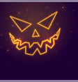 laughing ghost face neon style halloween vector image