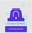 lets explore the beauty of voortrekker monument vector image