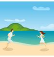Lovers Running Poster vector image