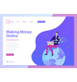 making money online web vector image vector image