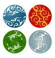 Nature elements badges vector image