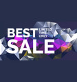 original poster for discount abstract polygonal vector image vector image