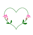 Pink Desert Rose Flowers in A Heart Shape vector image vector image
