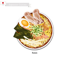 Ramen or Japanese Style Noodle Soup vector image vector image