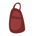 red backpack icon isometric style vector image vector image