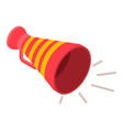 red yellow megaphone icon isometric style vector image vector image