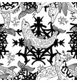 seamless pattern with gothic symbols vector image
