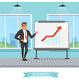 self-confident businessman standing near vector image