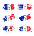 set abstract brush stroke flag france vector image vector image