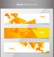 set of 3 banner design templates with abstract vector image vector image