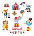 set of circus animals of circus animals