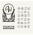 Set template letters to create monograms vector image vector image