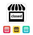 Shop closed icon vector image