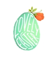 Single Easter Egg with Flower Decoration in vector image vector image