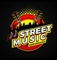 street country music performance logo symbol badge vector image