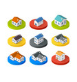 style flat isometric city vector image
