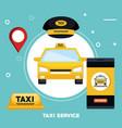 taxi service transport public app vector image vector image