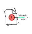 vulnerability search thin line icon vector image vector image