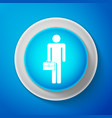 white businessman man with briefcase icon isolated vector image