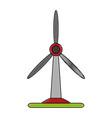 wind turbine energy vector image vector image