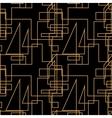 Geometric seamless line background vector image