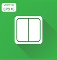 electric light switch icon business concept vector image