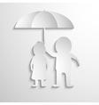 Together Under Umbrella vector image