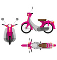 A pink motor vehicle vector image vector image