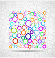 abstract square of colorful circles vector image vector image