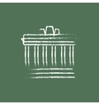 Acropolis of Athens icon drawn in chalk vector image vector image