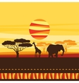 African ethnic background with of savanna vector image vector image