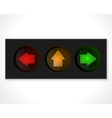 arrow traffic lights vector image vector image