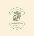 bearded man logo vector image vector image