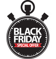 Black friday special offer stopwatch black icon vector image